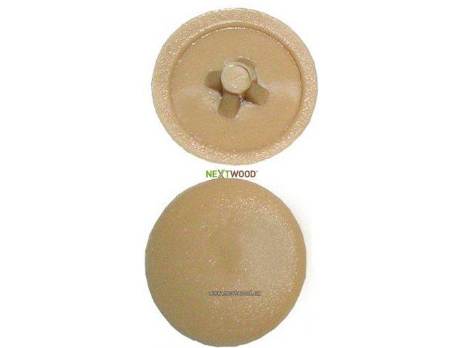 Plastová krytka na vrut - dub