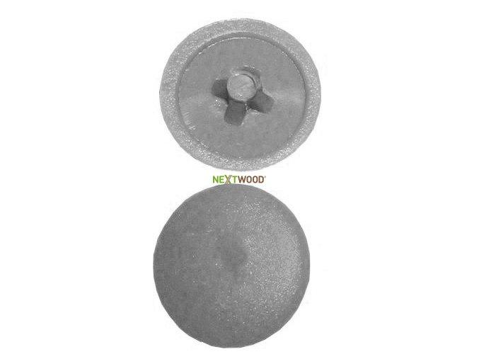 Plastová krytka na vrut - šedá