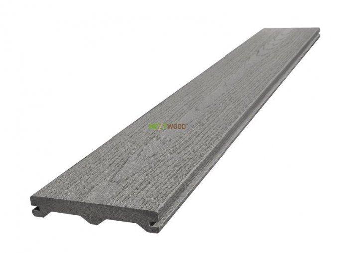 WPC terasové prkno Nextwood FULL LINE, šedá