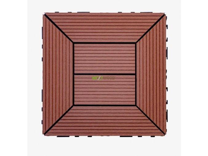 WPC dlaždice 300x300 mm, barva třešeň