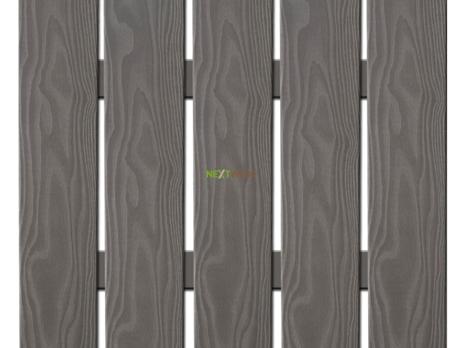 WPC široká plotovka 3D line Nextwood, šedá, výška 160 cm - II. jakost