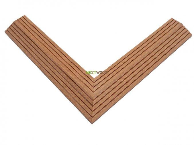 Dvoudílná rohová lišta k WPC dlaždicím, barva timber (5)