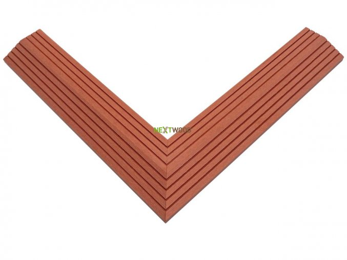 Dvoudílná rohová lišta k WPC dlaždicím, barva tresen (5)