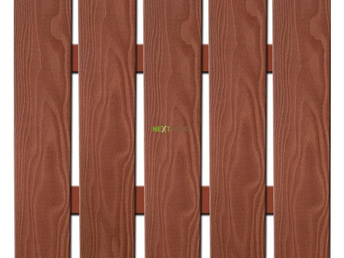 WPC široká plotovka 3D line Nextwood, třešeň - II. jakost