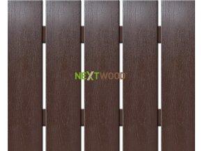 WPC široká plotovka Nextwood, wenge, délka 120 cm