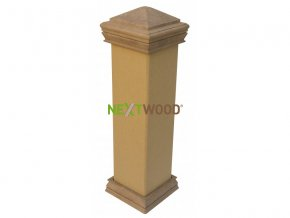 WPC svislý plotový sloupek Nextwood, bez obou krytek, dub