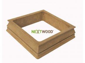 WPC dolní kryt na svislé sloupky Nextwood