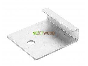 Nerezový startovací / zakončovací klip pro podlahy Nextwood 3D line