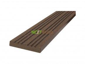 WPC terasová lemovací lišta Nextwood 3D line, wenge