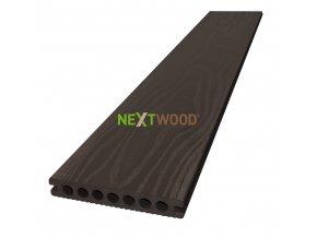 WPC terasové prkno Nextwood 3D line, barva wenge