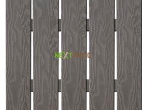 WPC široká plotovka 3D line Nextwood, šedá