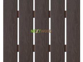 WPC široká plotovka 3D line Nextwood, wenge