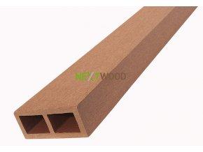 WPC vodorovný plotový nosník Nextwood - třešeň