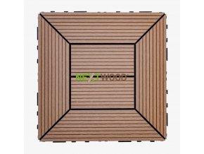 WPC dlaždice 300x300 mm, barva timber