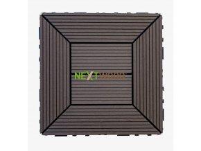 WPC dlaždice 300x300 mm, barva wenge