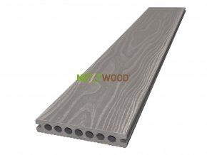 WPC terasové prkno Nextwood 3D line, barva šedá