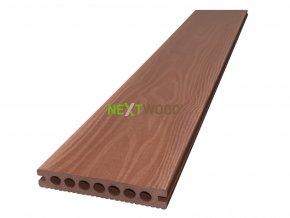 WPC terasové prkno Nextwood 3D line, barva třešeň
