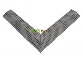 Dvoudílná rohová lišta k WPC dlaždicím, barva šedá (5)