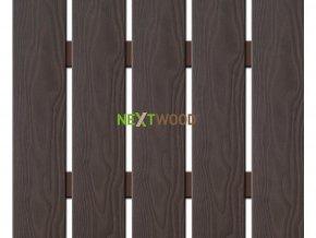 WPC široká plotovka 3D line Nextwood, wenge - výška 80 cm