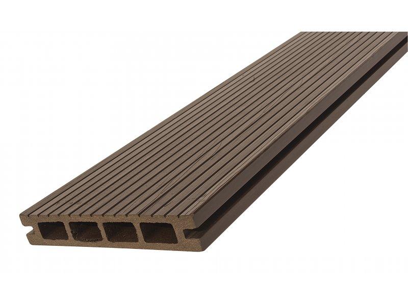 WPC podlahové / terasové prkno Nextwood, barva wenge • 25x150 mm • Délka: 2 metry