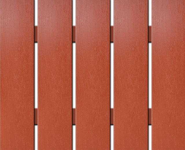 WPC široká plotovka Nextwood, výška 1,2 až 2 metry, barva třešeň • 139x9x1200 až 2000 mm Výška: 1,2 metru