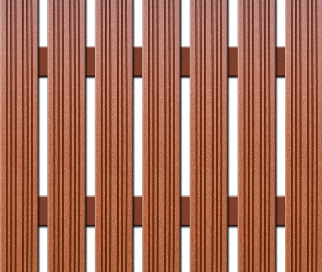 WPC úzká plotovka Nextwood, výška 1,2 až 2 metry, barva třešeň • 72x14x1200 až 2000 mm Výška: 1,2 metru