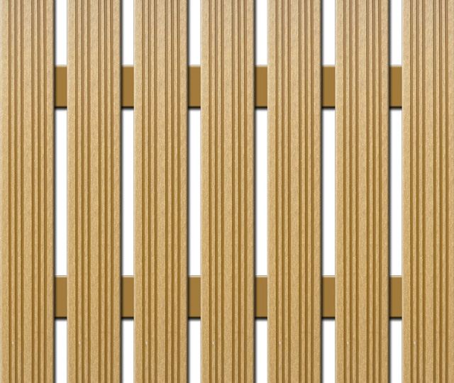 WPC plotovka Nextwood, šířka 72 mm, barva dub Výška: 1,2 metru