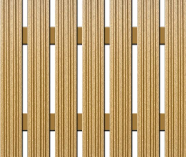 WPC plotovka Nextwood, šířka 72 mm, barva dub Výška: 1,6 metru