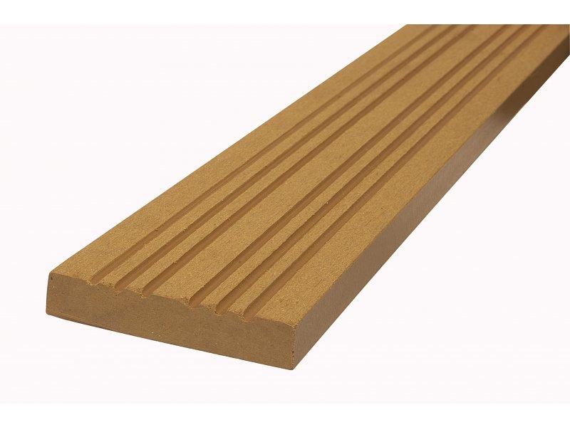 WPC podlahová / terasová lemovací lišta Nextwood, barva olše • 70x12x2000 mm • 2050 g • dřevoplast