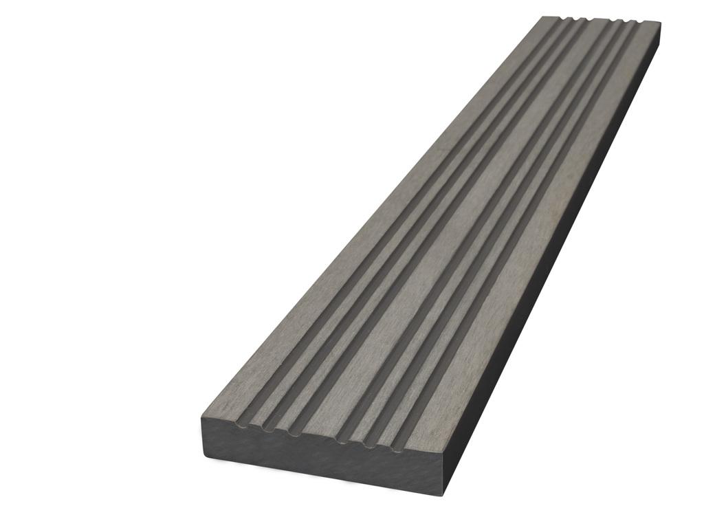 WPC terasová lemovací lišta Nextwood, rozměr 70x12x2000 mm, barva šedá