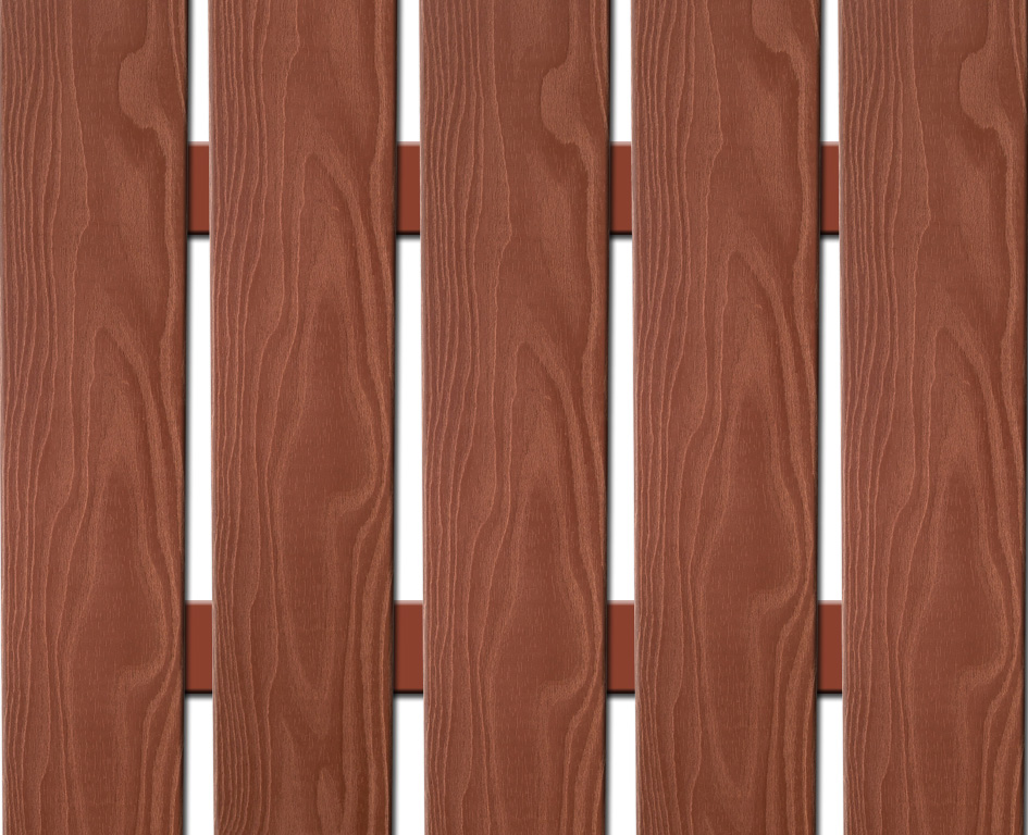 WPC plotovka 3D line Nextwood, šířka 139 mm, barva třešeň Výška: 1,6 metru