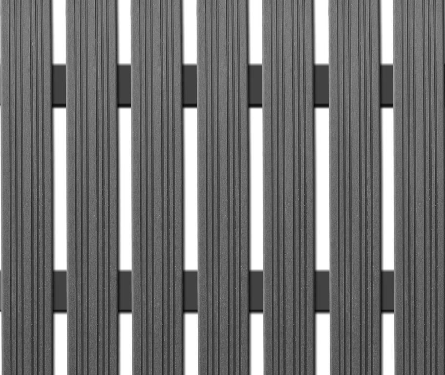 WPC úzká plotovka Nextwood, šedá Výška: 1,2 metru