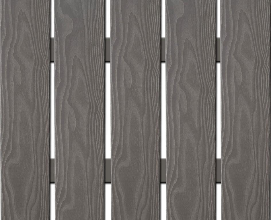 WPC široká plotovka 3D line Nextwood, šedá Výška: 1,2 metru