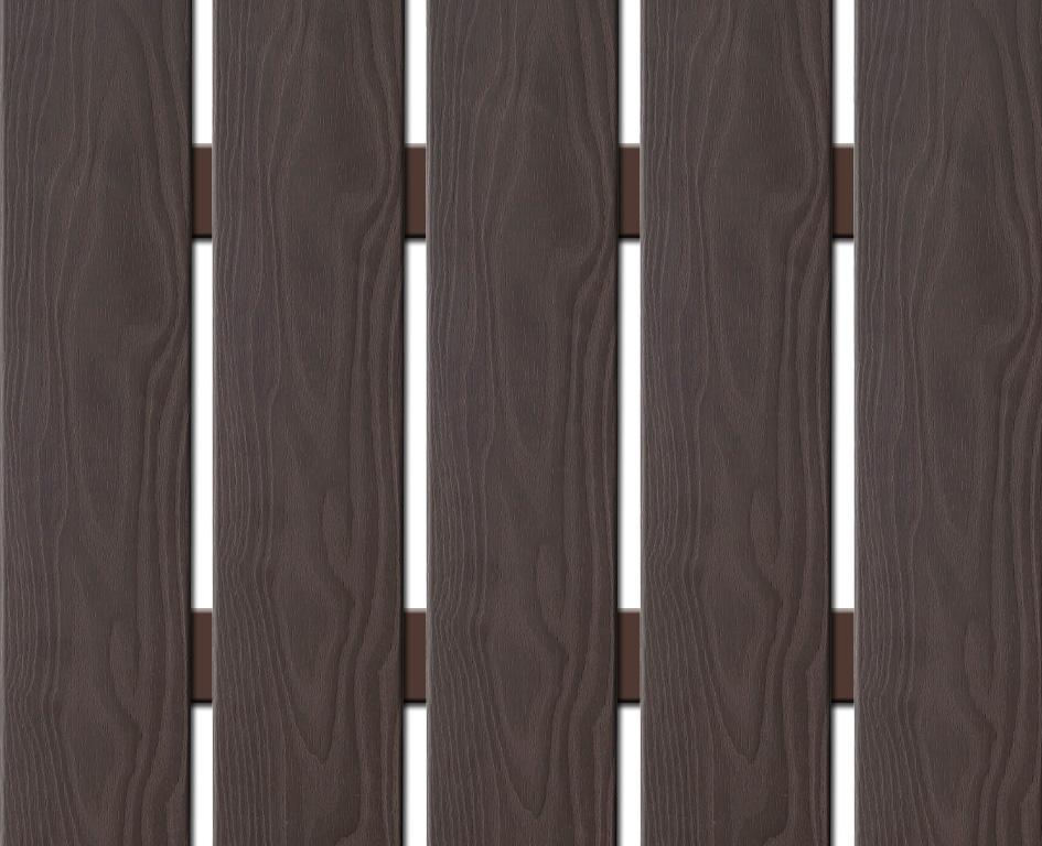 WPC plotovka 3D line Nextwood, šířka 139 mm, barva wenge Výška: 1,2 metru