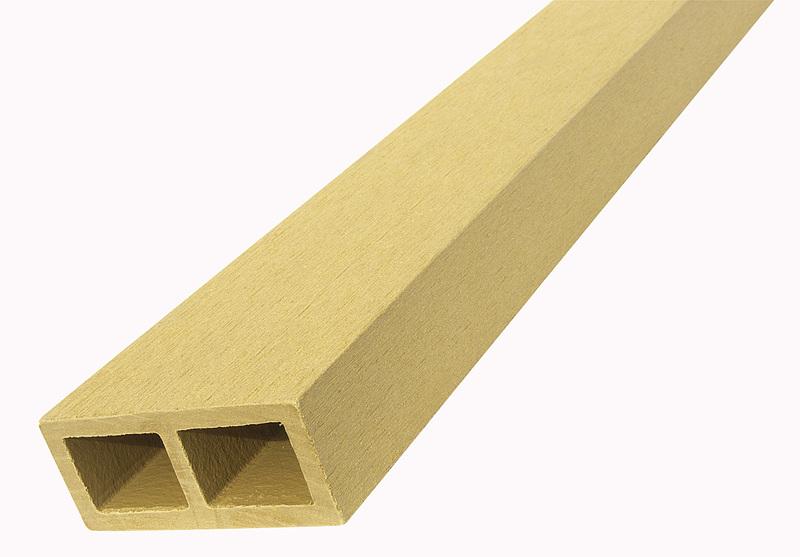 WPC vodorovný plotový nosník Nextwood, 88x38x2000 mm, barva dub