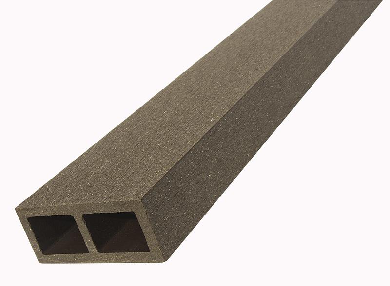 WPC vodorovný plotový nosník Nextwood, 88x38x2000 mm, barva wenge