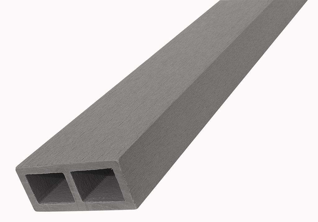 WPC vodorovný plotový nosník Nextwood, 88x38x2000 mm, barva šedá