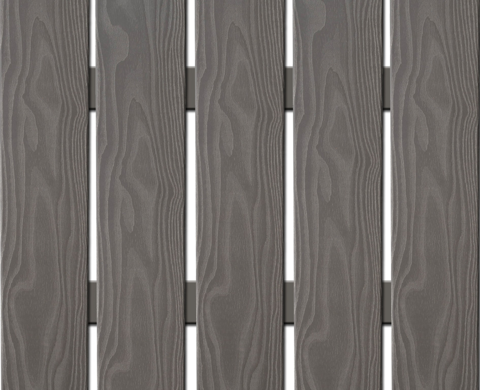 WPC plotovka 3D line Nextwood, šířka 139 mm, barva šedá, délka 80 cm