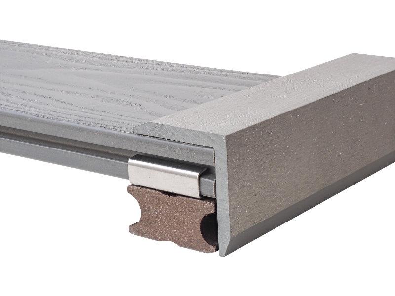 Terasová lemovací lišta Nextwood ve tvaru L, 51x57x2000mm, šedá