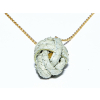OVAL fist necklace natural