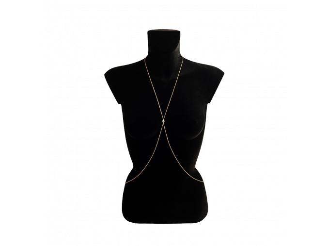 6 PEARL BODY tělový náhrdelník, červené, bílé nebo žluté zlato, perla, cena 59.900Kč