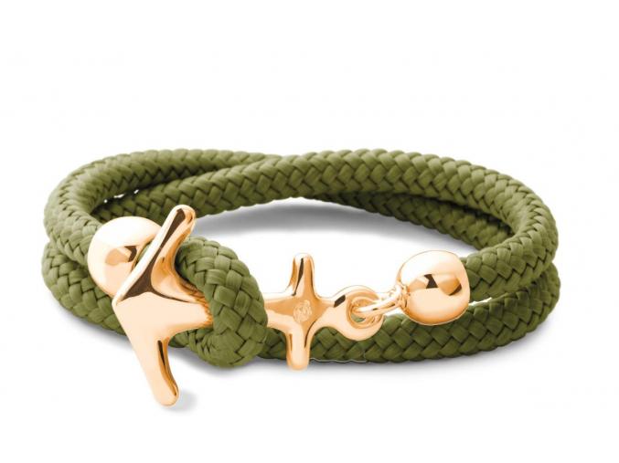 FijiGreen gold 2reih AnkerAnker Armband