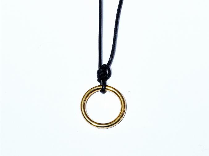 FISHERMANS Necklace black gold