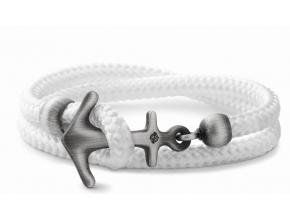 Aruba White matt Anker Armband
