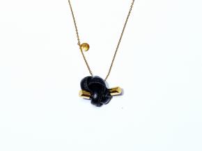 Fist necklace light black gold1