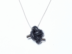 FIST necklace silver black