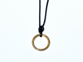 FISHERMANS Necklace black gold