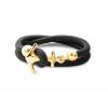 Ocean Story Anker Armband Silber Gold Sailbracelet CocoaBlack gold 2reih Anker 2 720x
