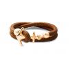 Ocean Story Anker Armband Silber Gold Sailbracelet AbacoBrown gold 2reih AnkerAnker Armband