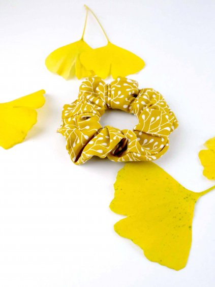 scrunchie nicebelly vetvicky hořčicové